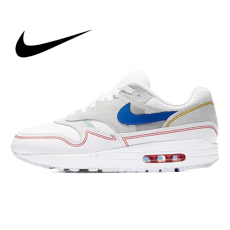 Original Nike Air Max 1 Centre Pompidou Men's Running Shoes Sport Outdoor Sneakers Athletic Designer Fashion Footwear AV3735-002