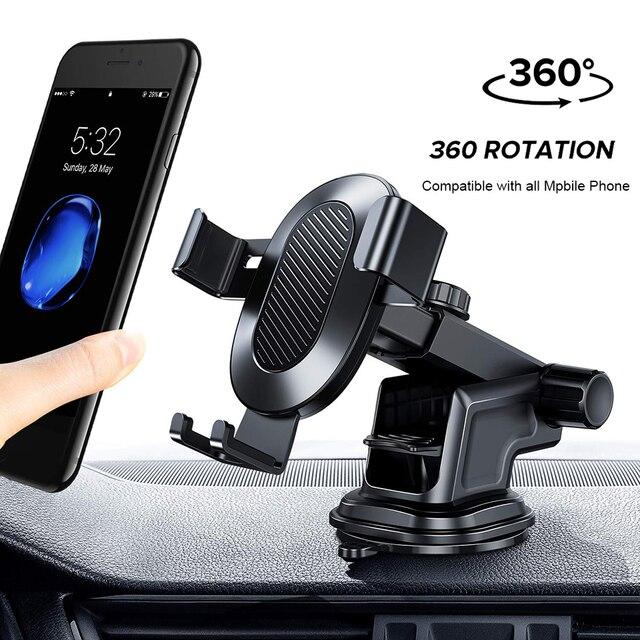 Tendway grawitacji Sucker uchwyt samochodowy do telefonu iPhone X Max Xiaomi 360 do montażu w stojaku samochodowym nie magnetyczny wsparcie dla telefonów komórkowych komórka telefon komórkowy