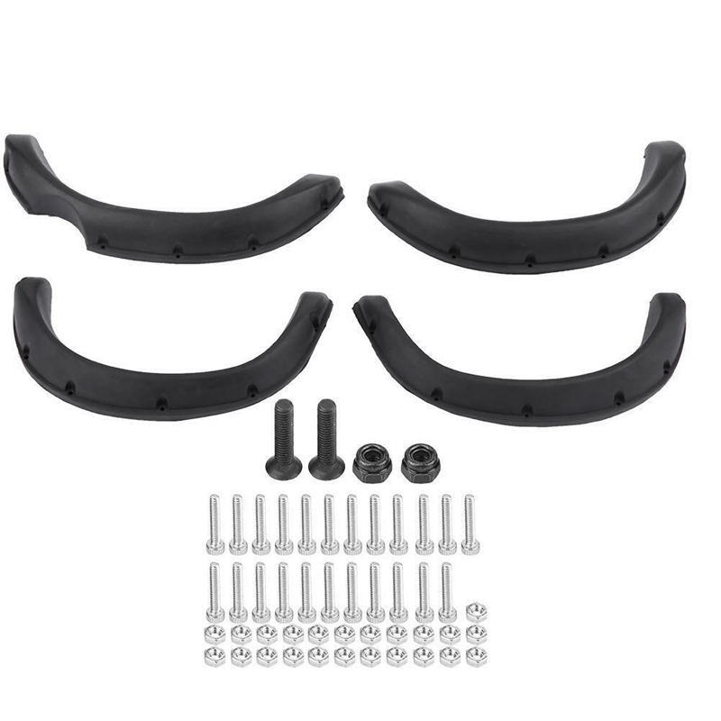 4Pcs Rubber Fender Prevent Scratch Widening Wheel Eyebrow for 1:10 Tamiya RC 4WD TF2 Mojave Hilux RC Crawler Car Body Part(China)