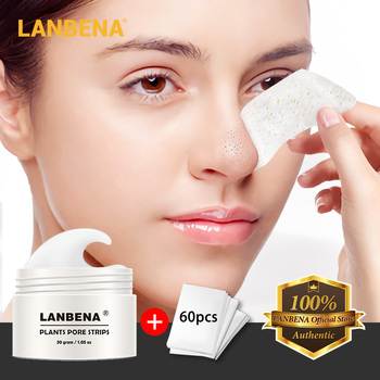 LANBENA Blackhead Remover Face Nose Mask Pore Strip Black Mask Treatment Acne Peeling Deep Cleansing Mask Oil Control Skin Care