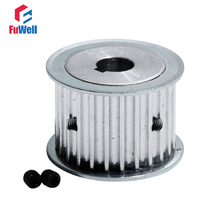 HTD5M-25T Timing Pulley With Keyway 27mm Width Toothed Belt Pulley 8/10/12/14/15/19/20mm Bore 25Teeth Synchronous Pulley