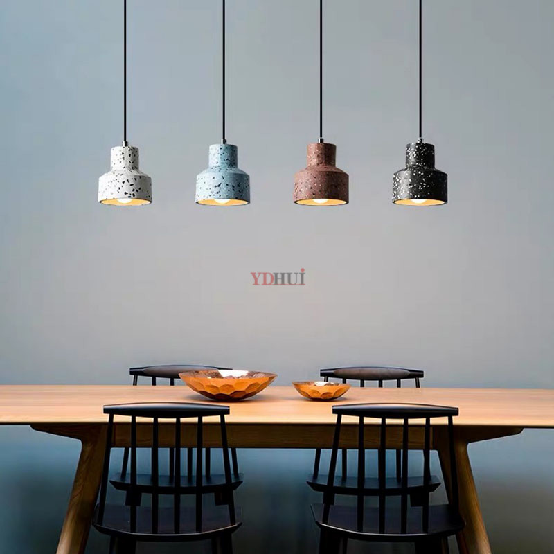Nordic Modern Personality Cafe Restaurant Clothing Store Bar Decoration Lamps Chandeliers Terrazzo Lamps