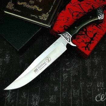PEGASI  U.S.A(DEHONG )SA48 hunting straight blade rescue knife camping straight blade Mirror light  tactical knife 2