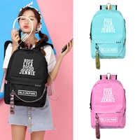 BlackPink Rose Lisa JENNIE USB Backpack School Bags Black Pink Mochila Travel Bags Laptop Headphone USB Port