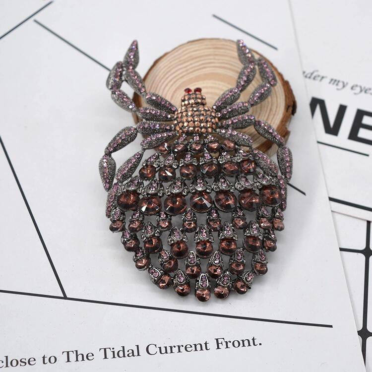 tassel chain spider badge insect crystal insect brooch christmas jewelry brooches for women in Brooches from Jewelry Accessories