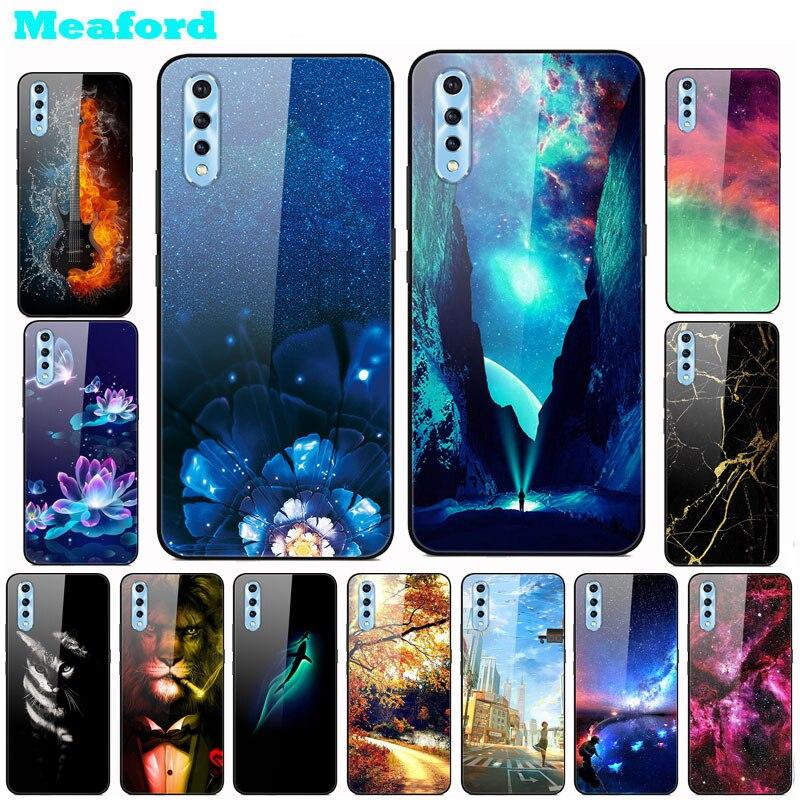 Tempered Glass Case For Vivo V17 Neo Case Hard PC Colorful Cover For Vivo IQOO Neo V 17 V17neo Bumper Phone Cases Vivov17 Neo