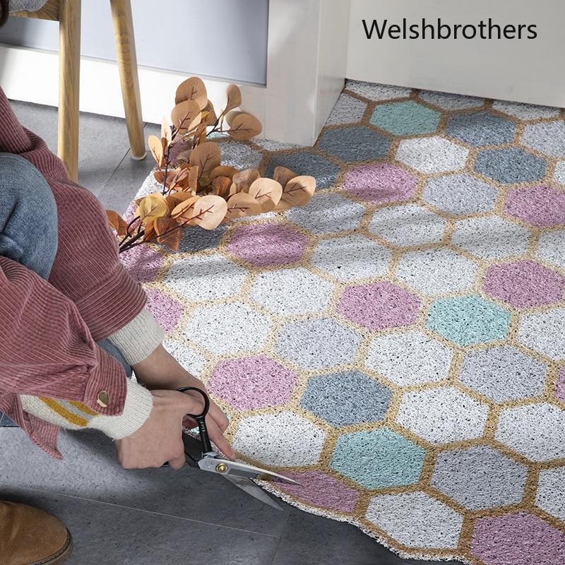 Personalizzato Nordic piano famiglia mat mat all'aperto sala mat anti-slip mat anello di filo di PVC tappeto tappetino può essere taglio tappeto soggiorno tappeti