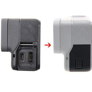 Image 5 - غطاء باب جانبي USB C منفذ HDMI صغير الجانب حامي ل GoPro HERO5/6/7 أسود UV تصفية عدسة إصلاح أجزاء اكسسوارات