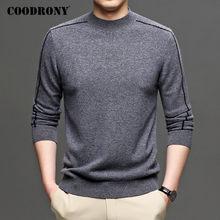 COODRONY-pull en laine mérinos pour hommes, vêtement de marque, bonne qualité, doux et chaud, à col roulé, Pullover décontracté, C3038, automne hiver
