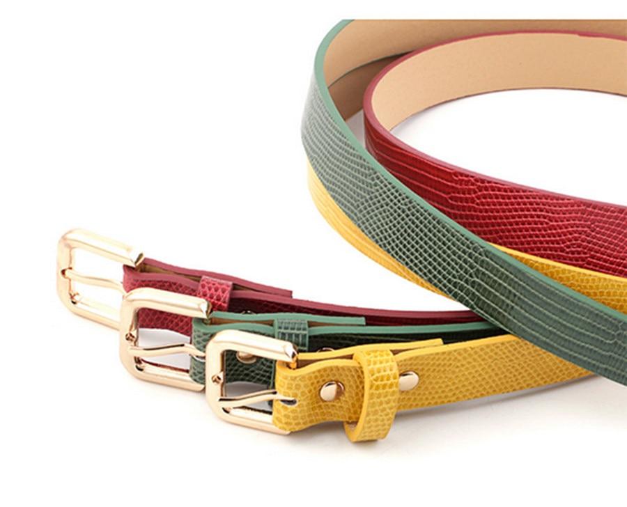 Women's Belt Imitation Leather Alloy Pin Buckle Belt Stone Pattern Fashion Lizard Pattern Decorative Jeans Women's Belt