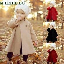 Baby Jacket Coat Cape Winter Girl's Children's Autumn Woolen New O-Neck Long-Sleeve
