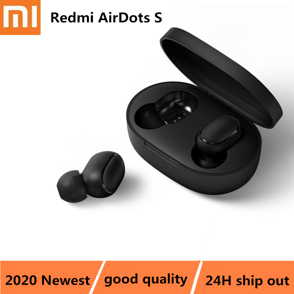 Xiaomi Redmi AirDots S TWS Earbuds Bluetooth Wireless Earphone Stereo Headsets Left Right Low Lag Mode Auto Link BT5 0 Earphone