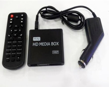 цена на REDAMIGO Car Full HD 1080P MINI Media Player for car Center HDD U Disk MultiMedia Player Media box with HDMI AV USB SD/MMC K7+C