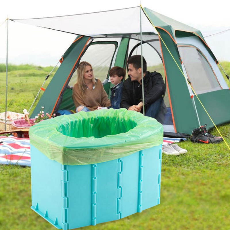 TOYANDONA Vasino Portatile da Viaggio Vasino Portatile da Campeggio Pieghevole per Auto Vasino Vasino Portatile per Bambini
