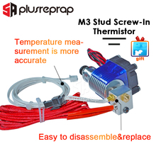 Upgraded V6 J-head Hotend Wade/Bowden Extruder with Heater M3 screw-in Thermistor Nozzle Fan Heat sink MK8 3D for Printer Parts 1 set m3 delta kossel fisheye effector hanging station with plate for v6 j head hotend 3d printer part