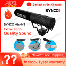 SYNCO Mic-M3 On Camera Shotgun Mic Super-Cardioid Condenser Video Microphone with 3.5mm TRRS TRS Cables for Smartphone, DSLR Cam