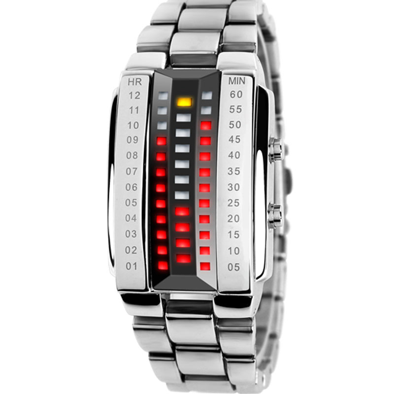 2020 New Binary Trend Watch Creative Bracelet Led Waterproof Men's Fashion Creative Personality Female School Student Electronic image