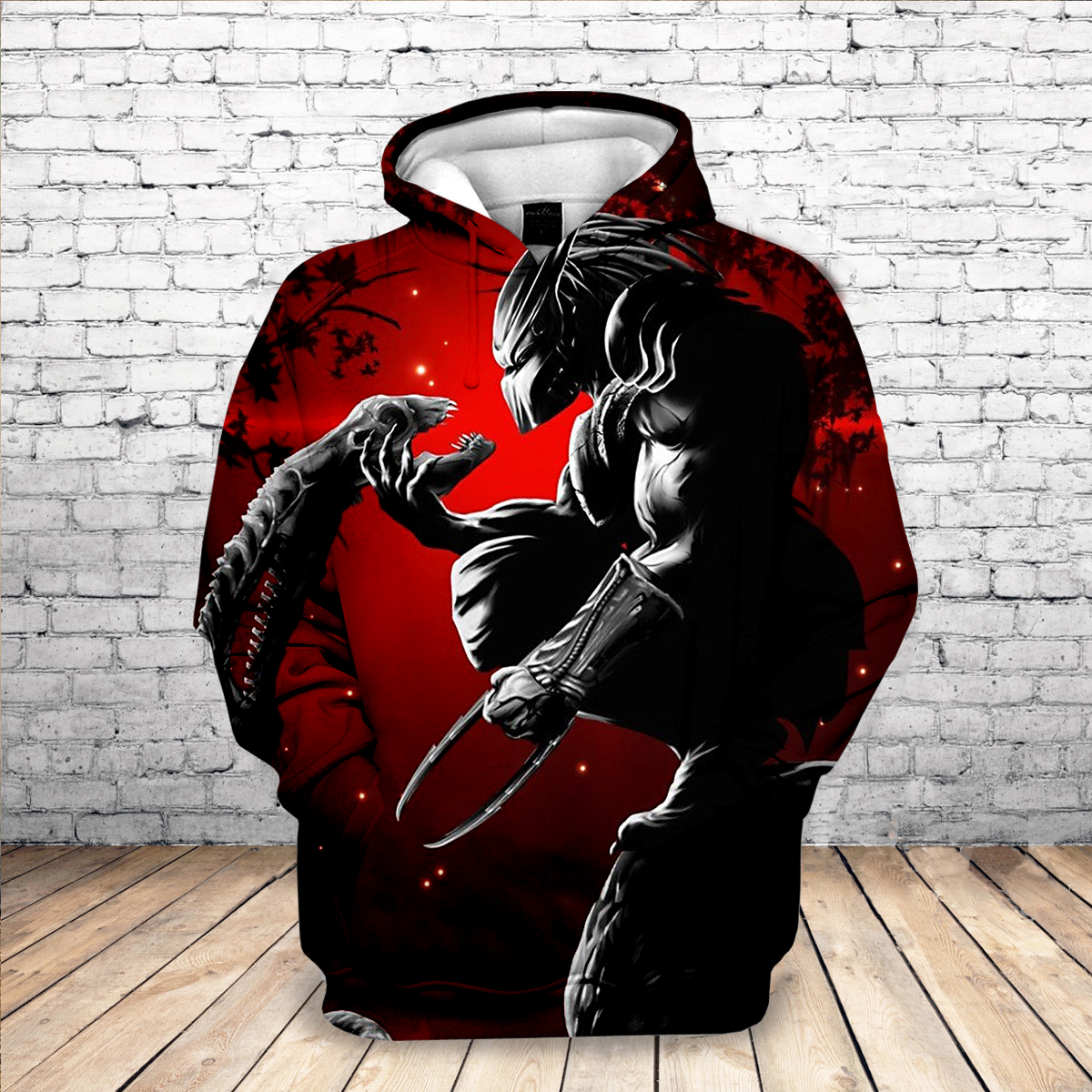 2019 New Sweatshirt Customize Horror Predator 3D Printed Hoodies Unique Pullovers Tops Men Clothing Drop Shipping