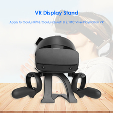 VR Headset Stand Controller Holder Fixing Strap Leather Foam Cushion Belt for Oculus