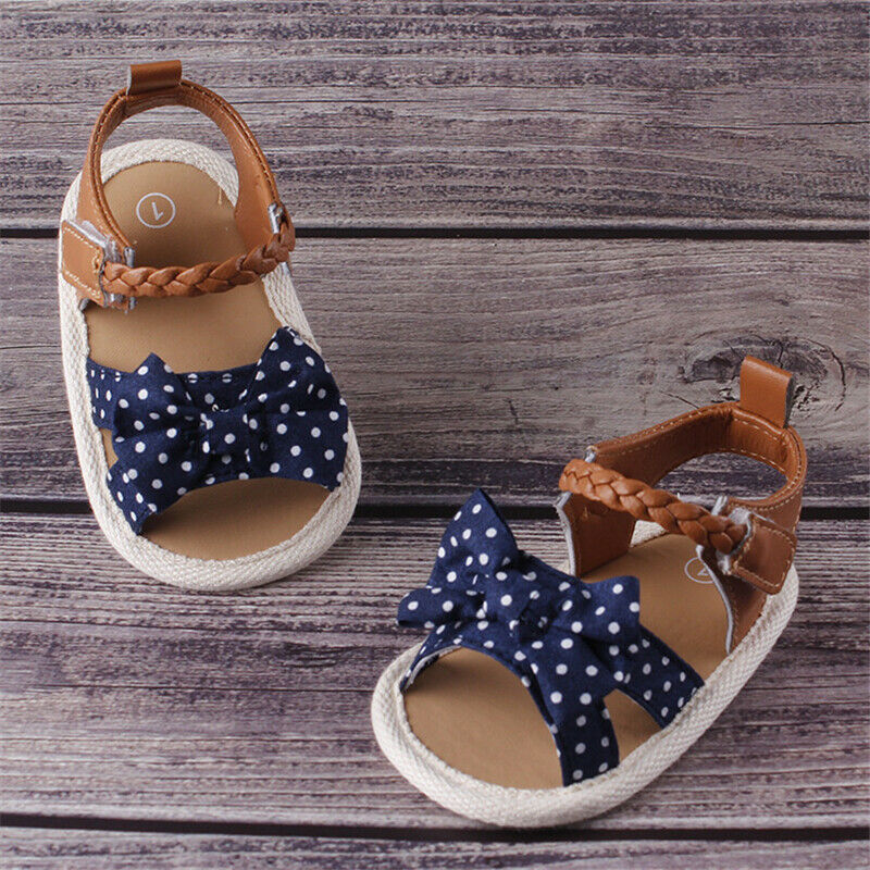 Fashion Infant Baby Girl Soft Sole Sandals Summer Shoes Bowknot Non-slip