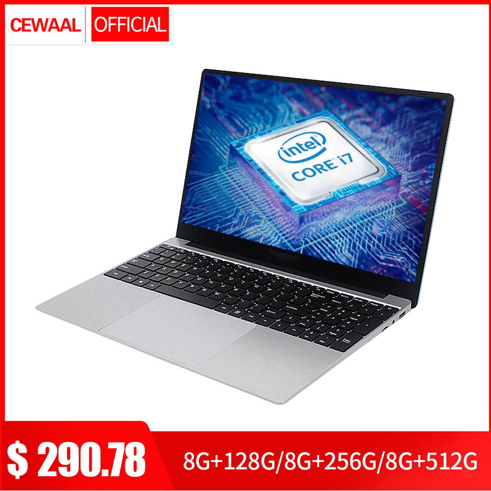 15.6 Inch Core 7Gen i7 Laptop 8GB RAM 512GB SSD Windows 10 IPS FHD 1080P Notebook Dual Band WiFi Student Computer HDMI USB 3.0 image