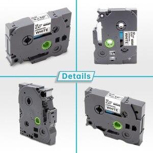 Image 2 - 10 Uds TZe 231 Compatible para Brother P touch cinta para impresora de etiqueta Tze 231 Tz 231 12mm negro sobre blanco TZ TZe 131 laminado cintas