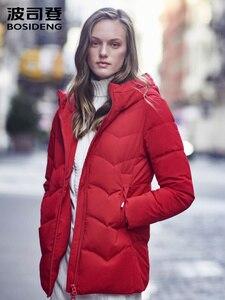 Bosideng 2019 feminino curto grosso para baixo jaquetas e casacos com capuz para baixo inverno quente outerwear roupas femininas b90141022