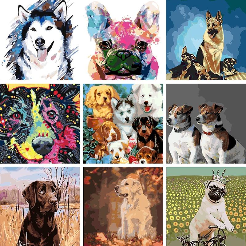 Купить бескаркасная картина по номерам животных на холсте фотографии