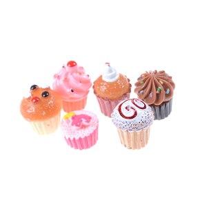 Image 4 - 5Pcs Artificial Fake Miniature Bakery Cake Bread Food Fruit Banana DollHouse Kitchen Toy Craft DIY Embellishment Accessories