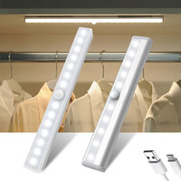 6 10 24 40 60 Led Kast Licht Usb Oplaadbare Onder Kast Lamp Dimbare Motion Sensor Kledingkast Verlichting Met Magnetische strip