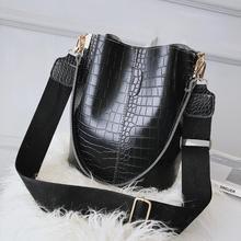 Alligator women bucket Shoulder Bag large capacity PU Leather lady handbag Luxury Designer Female Crossbody Bag bolsos mujer