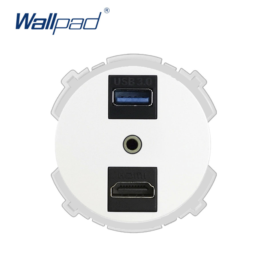 Wallpad HDMI USB 3.0 Audio Wall Socket Function Key Only For Data Transmission Free Combination