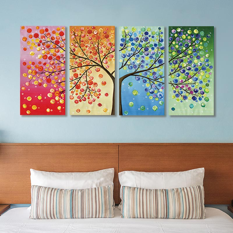 Leaf Trees Canvas Painting Wall For Abstract Decorative Pictures Poster Spray