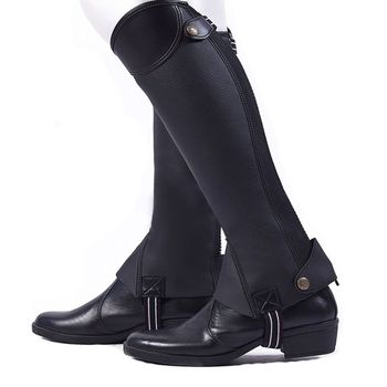 Horse Riding Leggings Horse Riding Boots Cover Adults Children Leg-protector Outdoor Riding Equestrian Equipment complete horse riding manual