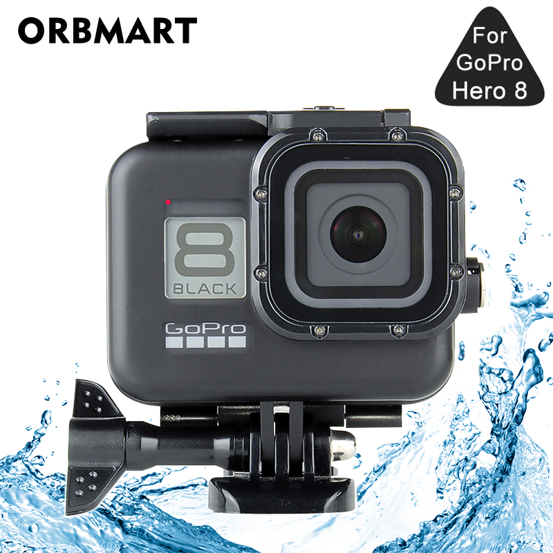 Black 60M Waterproof Housing Case For GoPro Hero 8 Black Dive Protective Underwater Diving Cover For Go Pro 8 Accessories