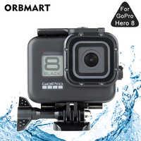 Czarny 60M wodoodporna obudowa Case dla GoPro Hero 8 czarny nurkowanie ochronna podwodna osłona do nurkowania dla Go Pro 8 akcesoria