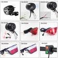Onature ebike lumière de nombreux types phare de vélo électrique et LED e vélo lumière arrière DC 6V 12V 36V 48V 72V accessoires ebike
