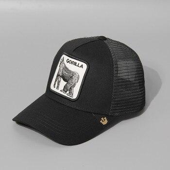 2020 Summer Breathable Mesh Baseball Cap Women&Men Snapback Trucker Hat Tiger Cat Embroidery Hip Hop Casquette Animals bone недорого