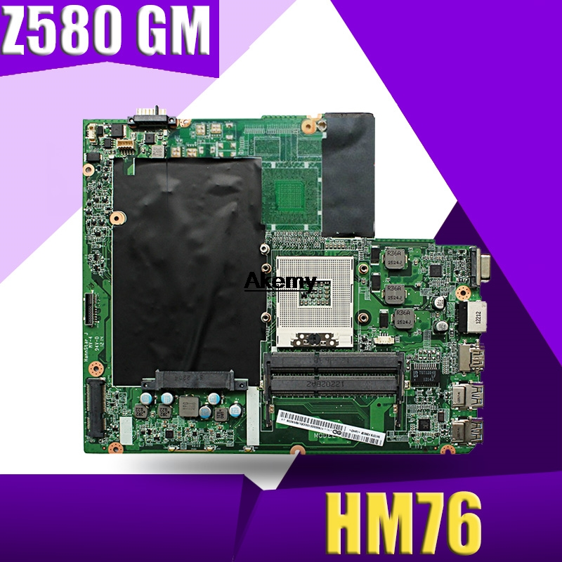 Z580 Mainboard For Lenovo Z580 GM HM76 USB3.0 DALZ3AMB8E0 Laptop Motherboard USB3.0 Test Work 100% Original