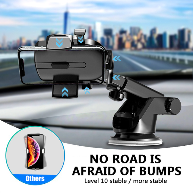 LISM Sucker Car Phone Holder Mobile Phone Holder Stand in Car No Magnetic GPS Mount Support For iPhone 12 11 Pro Xiaomi HUAWEI 3