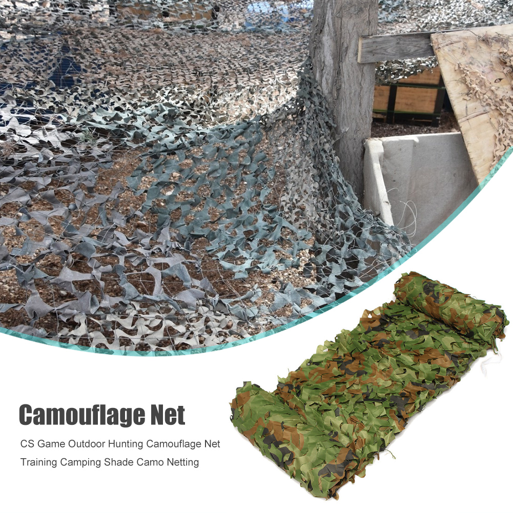 Hunting Camouflage Net Camping Tent Shade Camo Netting CS Game Outdoor Training Camping Portable Outdoor Elements