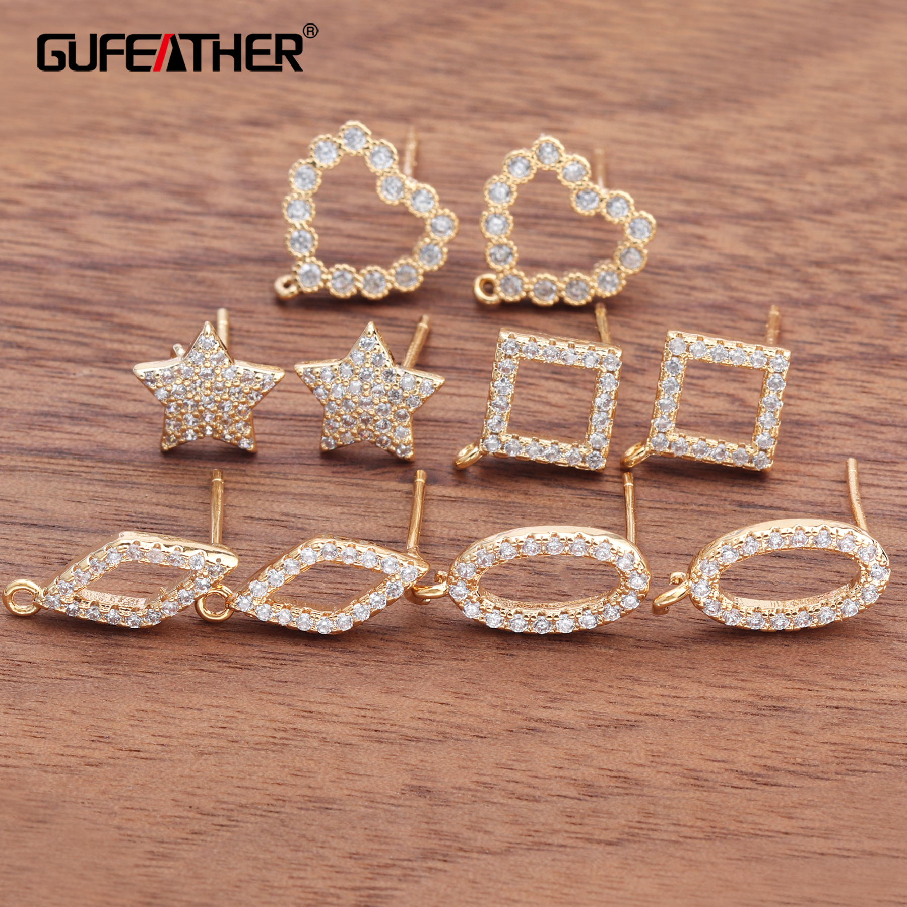 GUFEATHER M652,jewelry Accessories,18k Gold Plated,diy Pendant,jewelry Findings,hand Made,jewelry Making,diy Earrings,10pcs/lot