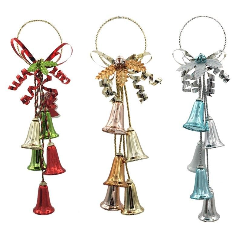 Cloche de noël pendentif porte pendaison Jingle cloche ornements cloche en métal pour la décoration de la maison Mini arbre de noël artisanat pour la fête nouveau oui