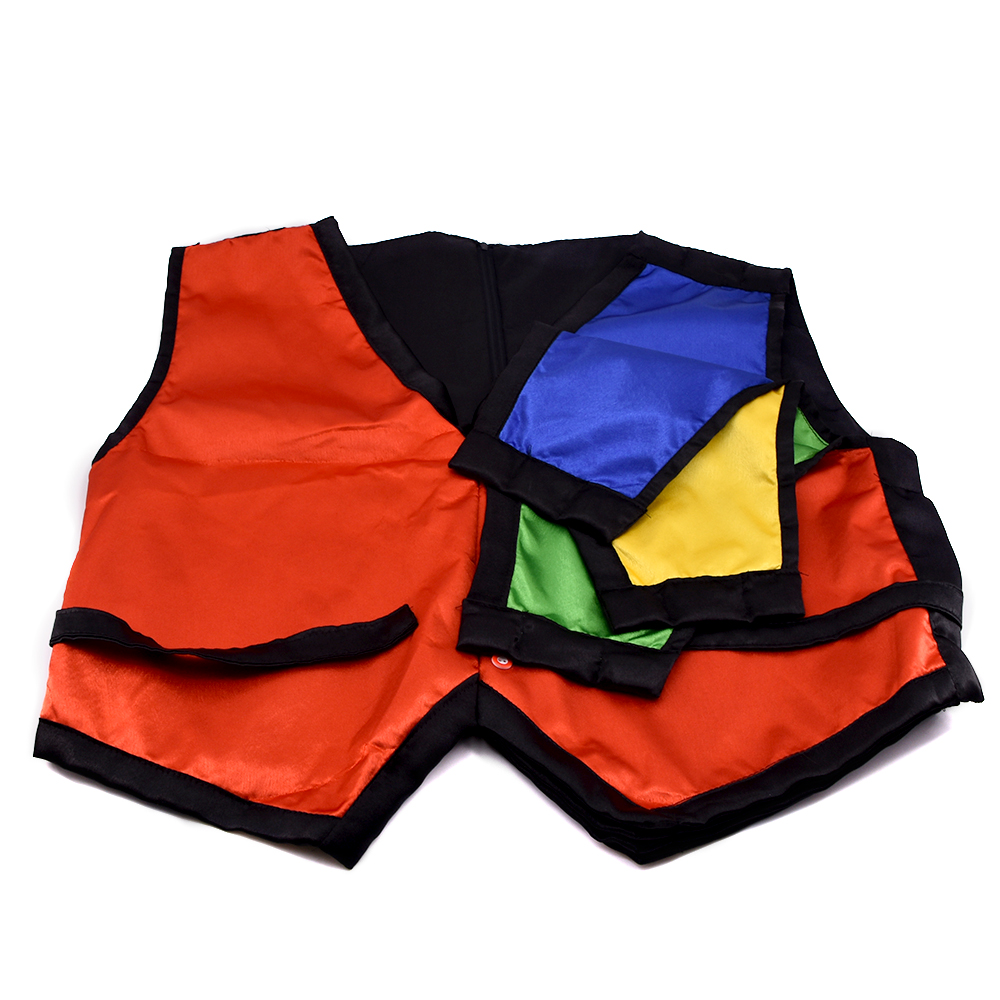 Color Changing Vest Waistcoat Four Color Magic Tricks Close-up Stage Magia Illusions Mentalism Illusion Gimmick Prop Accessories