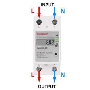 Image 3 - WDS688 Singola Frase Su Guida DIN WiFi Smart Contatore di Energia App Remote di Controllo di Apparecchiature Elettriche e Forniture