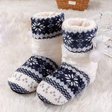 Cotton Floral ball Winter Boots Women Casual Round Toe Flat long tube Keep Warm Basic Shoes Woman Ladies Boots bota feminina(China)
