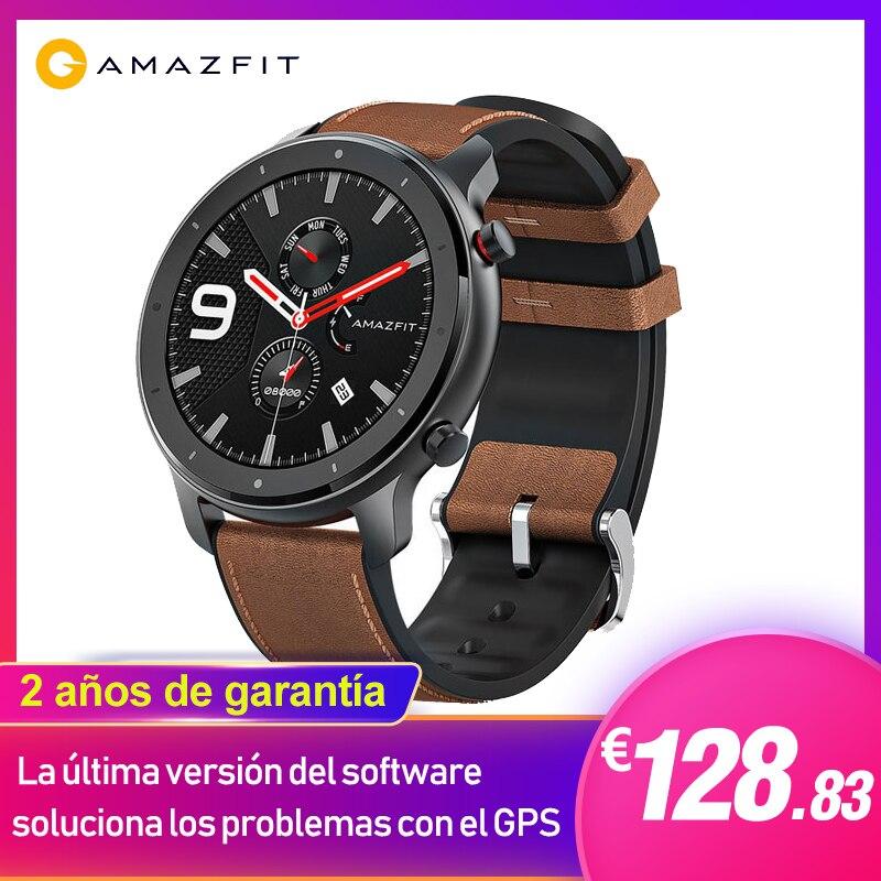 Em estoques huami amazfit gtr 47mm watch1.39 inteligente polegada com 24 dias de vida da bateria 5atm à prova dgps água gps & glonass 12 modos de esportes