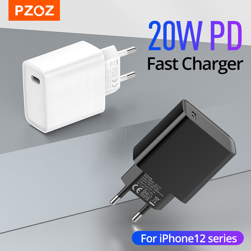 PZOZ PD 20W Fast Charging Usb C Charger For iphone 12 Mini Pro MAX 12 11 Xs Xr X 8 Plus PD Charger For iPad air 4 2020 IPAD pro|Mobile Phone Chargers| - AliExpress
