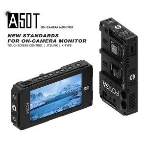 Image 2 - FOTGA Monitor de campo con pantalla táctil y placa de batería de doble NP F para 5D III IV A7 A7R A7S II III GH5