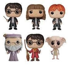 Funko Pop Movie Гарри Поттер Гермиона Рон Добби Луна персонажи Дамблдор 10 см Виниловая кукла Фигурка Коллекция Модель игрушки